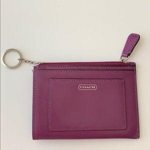 Coach small wallet / card holder with key ring